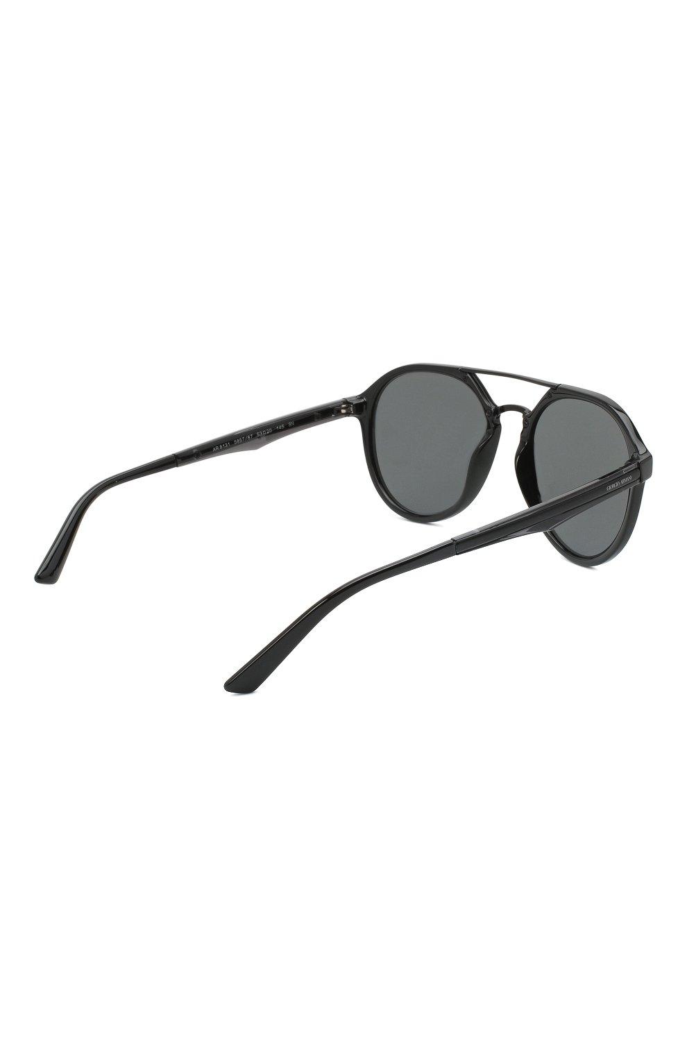 Мужские солнцезащитные очки GIORGIO ARMANI черного цвета, арт. AR8131   Фото 4
