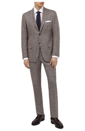 Мужской костюм из кашемира и шерсти KITON коричневого цвета, арт. UA81K06T11 | Фото 1