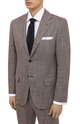 Мужской костюм из кашемира и шерсти KITON коричневого цвета, арт. UA81K06T11 | Фото 2