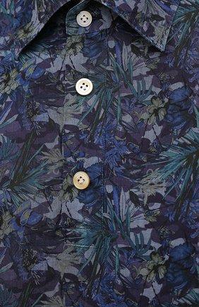Мужская хлопковая рубашка KITON темно-синего цвета, арт. UMCP0SH0767702 | Фото 5