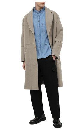 Мужская джинсовая рубашка ISABEL MARANT голубого цвета, арт. CH0645-21P020H/LAK0 P   Фото 2