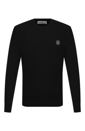 Мужская хлопковый лонгслив STONE ISLAND черного цвета, арт. 741522713 | Фото 1