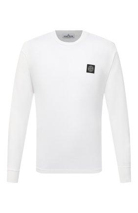 Мужская хлопковый лонгслив STONE ISLAND белого цвета, арт. 741522713 | Фото 1