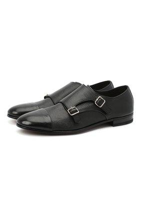Мужские кожаные монки H`D`S`N BARACCO черного цвета, арт. 71202.C.1* | Фото 1