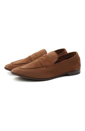 Мужские замшевые пенни-лоферы H`D`S`N BARACCO коричневого цвета, арт. 71400.S.1* | Фото 1 (Материал внутренний: Натуральная кожа; Стили: Кэжуэл; Мужское Кросс-КТ: Лоферы-обувь; Материал внешний: Замша)