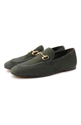 Мужские замшевые лоферы H`D`S`N BARACCO хаки цвета, арт. 71408.2* | Фото 1 (Материал внутренний: Натуральная кожа; Мужское Кросс-КТ: Лоферы-обувь; Стили: Кэжуэл; Материал внешний: Замша)