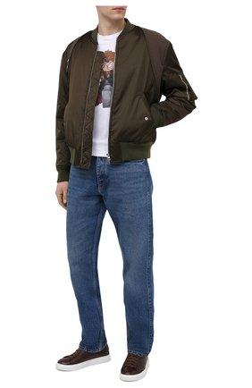Мужские кожаные кеды H`D`S`N BARACCO темно-коричневого цвета, арт. BRYAN.31* | Фото 2