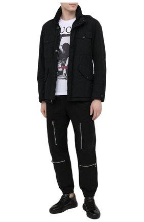 Мужские кожаные кеды ANTONIO MAURIZI черного цвета, арт. 1053/T0DI | Фото 2