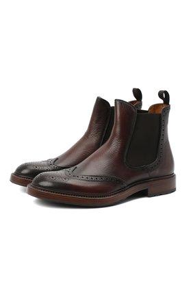 Мужские кожаные челси ANTONIO MAURIZI темно-коричневого цвета, арт. 7055-A/LUNA | Фото 1