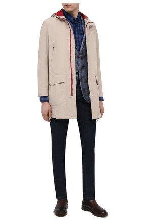 Мужские кожаные челси ANTONIO MAURIZI темно-коричневого цвета, арт. 7055-A/LUNA | Фото 2