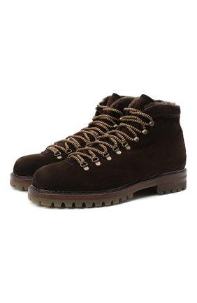 Мужские замшевые ботинки ANTONIO MAURIZI темно-коричневого цвета, арт. 9442/0TTERPR00F | Фото 1