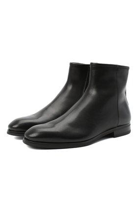Мужские кожаные сапоги ANTONIO MAURIZI черного цвета, арт. 9776/BABY CALF | Фото 1