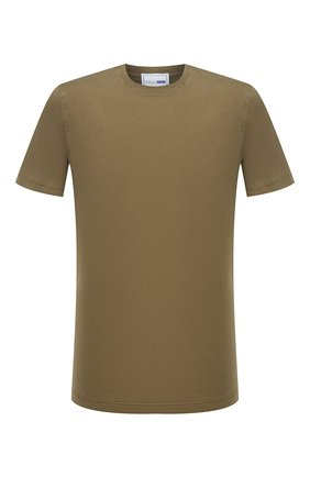 Мужская хлопковая футболка ZILLI SPORT хаки цвета, арт. MFU-13075-447782/0014 | Фото 1