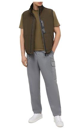 Мужская хлопковая футболка ZILLI SPORT хаки цвета, арт. MFU-13075-447782/0014 | Фото 2