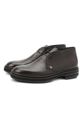 Мужские кожаные ботинки ZILLI коричневого цвета, арт. MDU-A095/003 | Фото 1