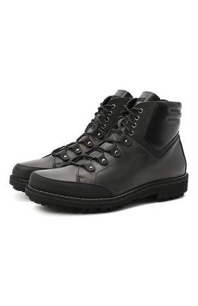Мужские кожаные ботинки ZILLI черного цвета, арт. MDU-B068/002 | Фото 1