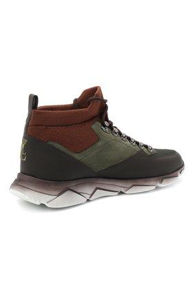 Мужские комбинированные кроссовки ZILLI хаки цвета, арт. MDU-T135/0A1   Фото 4