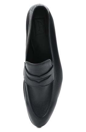Мужские кожаные пенни-лоферы BRIONI темно-синего цвета, арт. QEI30L/P7731   Фото 5