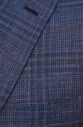 Мужской пиджак из шерсти и шелка BRIONI синего цвета, арт. RG070L/P0A3W/D0R0TE0 | Фото 5
