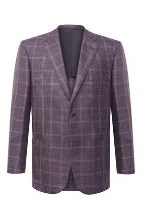 Мужской пиджак из шерсти и шелка BRIONI сиреневого цвета, арт. RGH00N/P0A5E/PARLAMENT0 | Фото 1