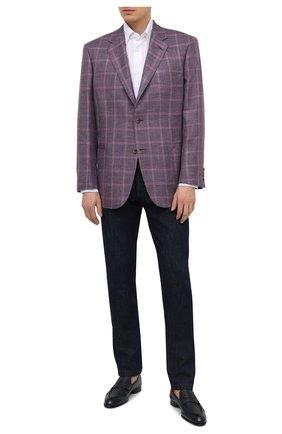 Мужской пиджак из шерсти и шелка BRIONI сиреневого цвета, арт. RGH00N/P0A5E/PARLAMENT0 | Фото 2