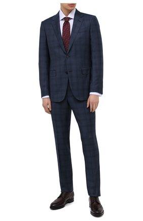 Мужская хлопковая сорочка BRIONI сиреневого цвета, арт. RCB20M/PZ000 | Фото 2 (Воротник: Акула; Стили: Классический; Принт: Однотонные; Рукава: Длинные; Материал внешний: Хлопок; Случай: Формальный; Рубашки М: Regular Fit; Манжеты: Под запонки; Длина (для топов): Стандартные)