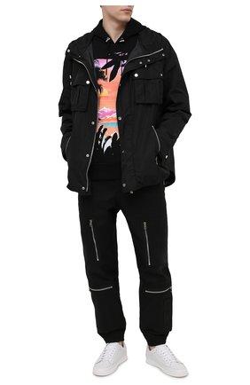 Мужская куртка BALMAIN черного цвета, арт. VH1TG020/X137   Фото 2