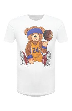 Мужская хлопковая футболка BISIBIGLIO белого цвета, арт. TEDDYLAKERS K0BE BRYANT/RIF (C0TT0NE PESANTE) | Фото 1