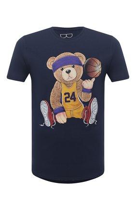 Мужская хлопковая футболка BISIBIGLIO темно-синего цвета, арт. TEDDYLAKERS K0BE BRYANT/RIF (C0TT0NE PESANTE) | Фото 1