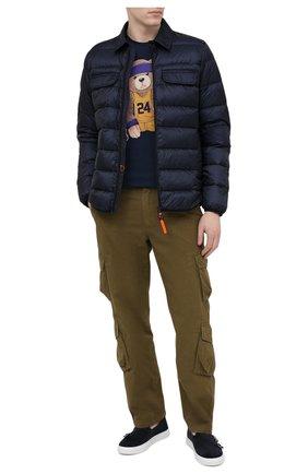 Мужская хлопковая футболка BISIBIGLIO темно-синего цвета, арт. TEDDYLAKERS K0BE BRYANT/RIF (C0TT0NE PESANTE) | Фото 2