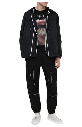 Мужская хлопковая футболка BISIBIGLIO черного цвета, арт. G0LDEN T0NGUE/RIF (C0TT0NE PESANTE) | Фото 2
