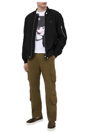 Мужская хлопковая футболка BISIBIGLIO белого цвета, арт. CRUCIFIX/RIF (C0TT0NE PESANTE) | Фото 2