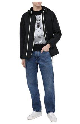 Мужская хлопковая футболка BISIBIGLIO черно-белого цвета, арт. BRIG CARTE/RIF (C0TT0NE PESANTE) | Фото 2