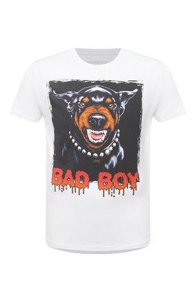 Мужская хлопковая футболка BISIBIGLIO белого цвета, арт. BAD D0BERB0Y/RIF (C0TT0NE PESANTE) | Фото 1