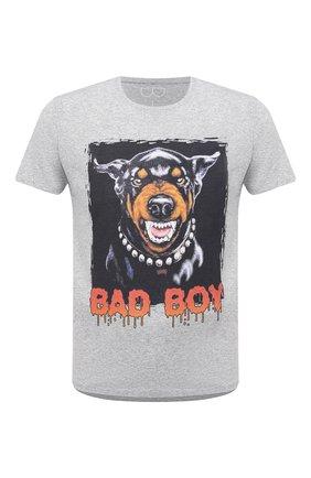 Мужская хлопковая футболка BISIBIGLIO серого цвета, арт. BAD D0BERB0Y/RIF (C0TT0NE PESANTE) | Фото 1