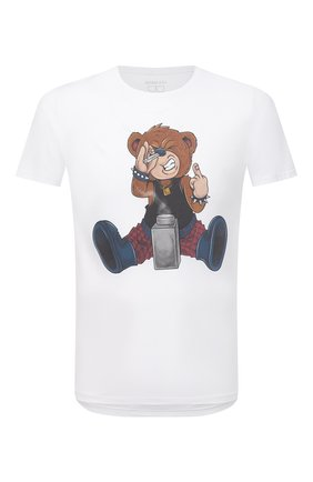 Мужская хлопковая футболка BISIBIGLIO белого цвета, арт. 0VER D0SIS BEAR/RIF (C0TT0NE PESANTE) | Фото 1