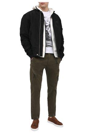 Мужская хлопковая футболка BISIBIGLIO белого цвета, арт. MARI PIST0L GANG/RIF (C0TT0NE PESANTE) | Фото 2