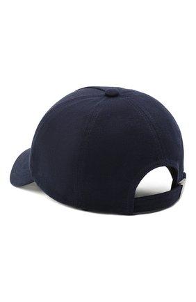 Мужской хлопковая бейсболка BALMAIN темно-синего цвета, арт. VH1XA000/B015 | Фото 2