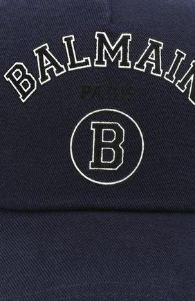 Мужской хлопковая бейсболка BALMAIN темно-синего цвета, арт. VH1XA000/B015 | Фото 3