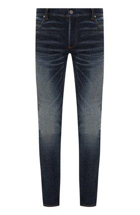 Мужские джинсы BALMAIN синего цвета, арт. VH1MG000/005D | Фото 1