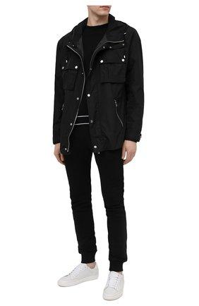 Мужские хлопковые джоггеры BALMAIN черного цвета, арт. VH10B015/G038 | Фото 2