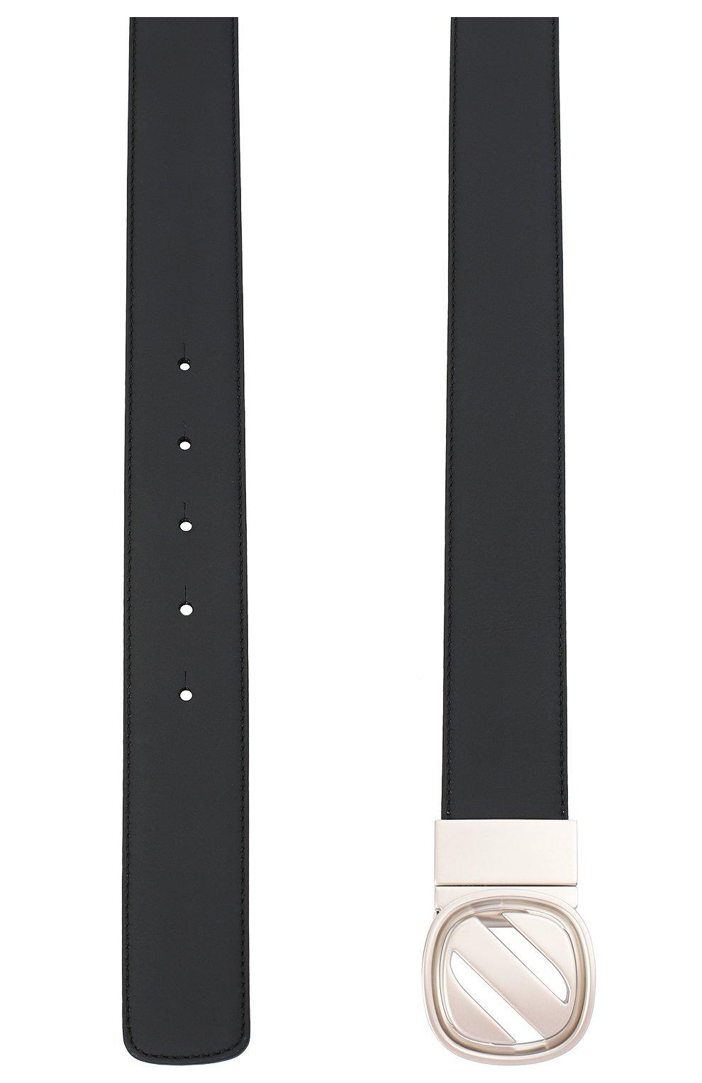 Мужской двусторонний кожаный ремень Z ZEGNA темно-синего цвета, арт. B1AC1B/J1233F   Фото 2 (Случай: Формальный)