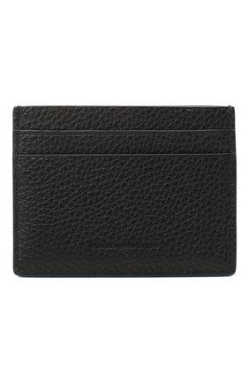 Мужской кожаный футляр для кредитных карт ERMENEGILDO ZEGNA черного цвета, арт. E1139W-LHDAI | Фото 1