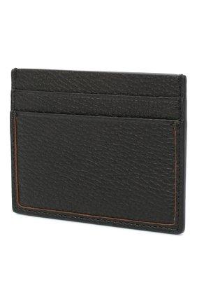 Мужской кожаный футляр для кредитных карт ERMENEGILDO ZEGNA черного цвета, арт. E1139W-LHDAI | Фото 2