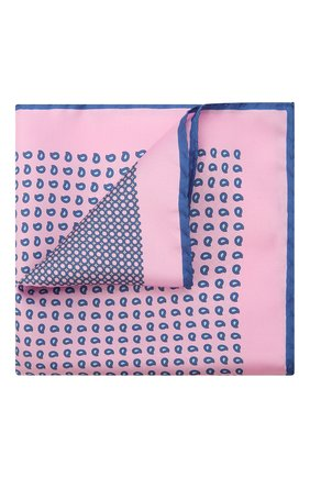 Мужской шелковый платок ERMENEGILDO ZEGNA розового цвета, арт. Z9J02/39A | Фото 1