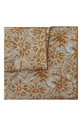 Мужской платок из хлопка и шелка ERMENEGILDO ZEGNA коричневого цвета, арт. Z9J15/36D | Фото 1