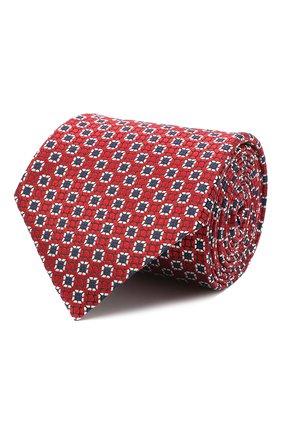 Мужской шелковый галстук ERMENEGILDO ZEGNA красного цвета, арт. Z9W05/1UM | Фото 1