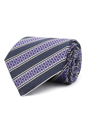 Мужской шелковый галстук ERMENEGILDO ZEGNA фиолетового цвета, арт. Z9W07/1UM | Фото 1