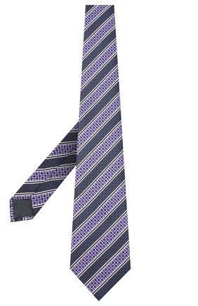 Мужской шелковый галстук ERMENEGILDO ZEGNA фиолетового цвета, арт. Z9W07/1UM | Фото 2