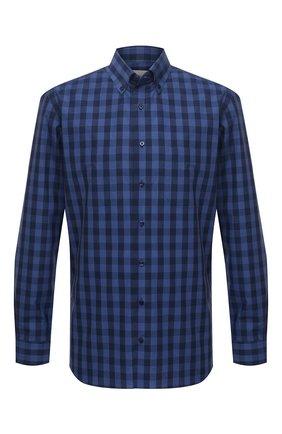 Мужская хлопковая рубашка ZILLI SPORT синего цвета, арт. MFU-7025-0001/0016/18/20/22/24 | Фото 1